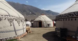 Casa típica de Asia Central