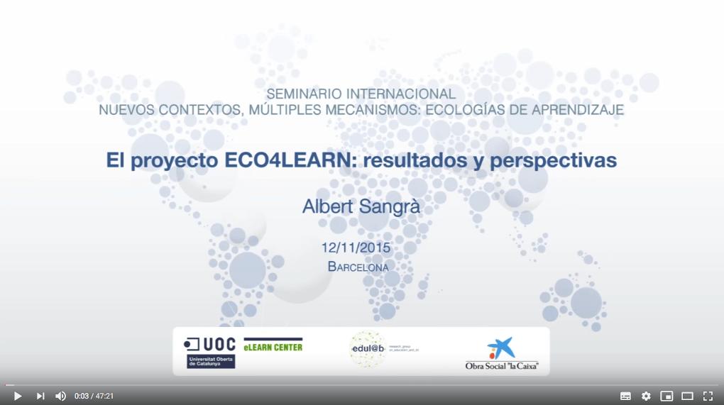 El proyecto ECO4LEARN: resultados y perspectivas