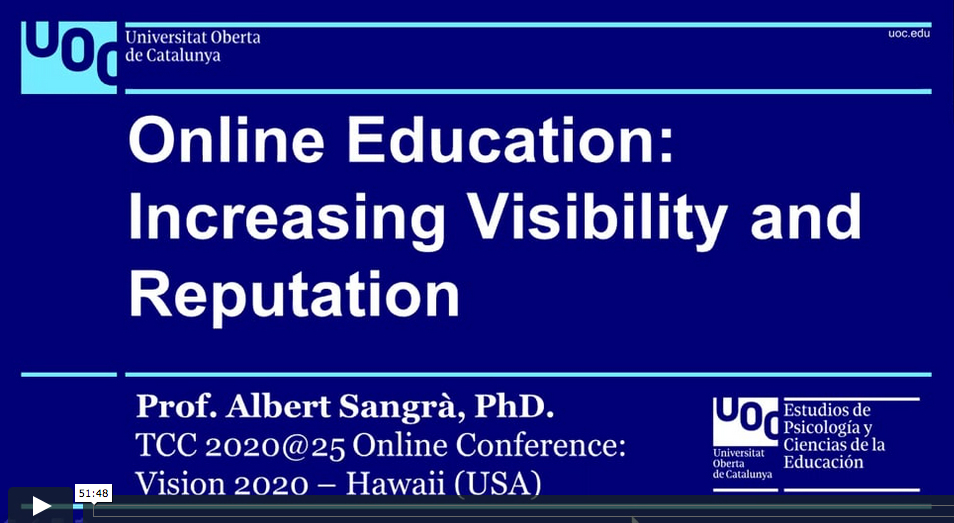 Online Education: Increasing Visibility and Reputation