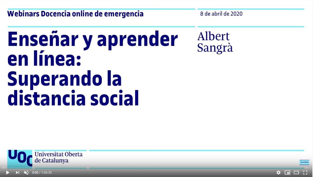 Enseñar y aprender en línea: Superando la distancia social